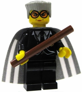 LEGO Harry Potter LOOSE Mini Figure Madam Hooch with Wand Yellow Flesh