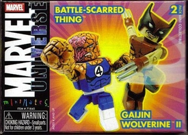 Marvel MiniMates Battle-Scarred Thing & Gaijin Wolverine II