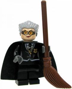 LEGO Harry Potter LOOSE Mini Figure Madam Hooch with Broom Light Flesh