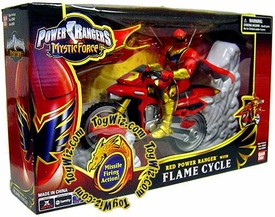 Power Rangers Mystic Force Flame Cycle with Red Ranger Action Figure