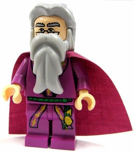 LEGO Harry Potter LOOSE Mini Figure Albus Dumbledore with Purple Cape [Purple] Light Flesh