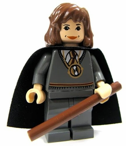 LEGO Harry Potter LOOSE Mini Figure Hermione in School Uniform with Printed Time Turner, Wand & Starry Cape Light Flesh