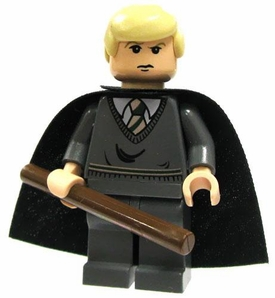 LEGO Harry Potter LOOSE Mini Figure Draco Cape & Wand Light Flesh