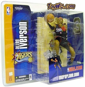 McFarlane Toys NBA Sports Picks Series 6 Action Figure Allen Iverson (Philadelphia 76ers) Black Jersey