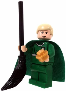 LEGO Harry Potter LOOSE Mini Figure Draco in Quidditch Gear with Snitch and Broom [Version 2]