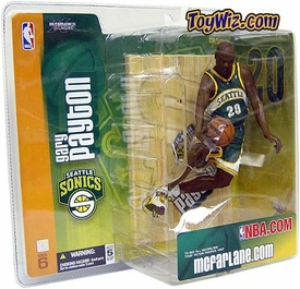 McFarlane Toys NBA Sports Picks Series 6 Action Figure Gary Payton (Seattle Supersonics) Green Jersey Variant