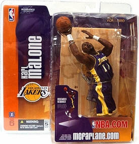 McFarlane Toys NBA Sports Picks Series 6 Action Figure Karl Malone (Los Angeles Lakers) Purple Jersey
