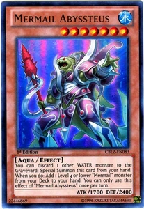 YuGiOh Zexal Cosmo Blazer Single Card Ultra Rare CBLZ-EN083 Mermail Abyssteus