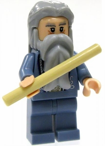 LEGO Harry Potter LOOSE Mini Figure Albus Dumbledore with Tan Wand  Light Flesh