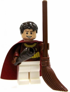 LEGO Harry Potter LOOSE Mini Figure Oliver Wood in Quidditch Gear with Broom Light Flesh