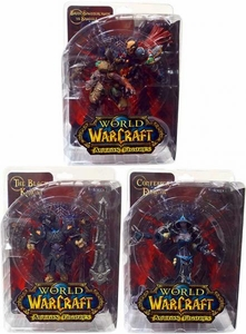 World of Warcraft DC Unlimited Series 8 Set of 3 Action Figures [Black Knight, Confessor Dahlia & Brink Spannercrank Vs. Kobold Miner]