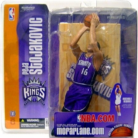 McFarlane Toys NBA Sports Picks Series 6 Action Figure Peja Stojakovic (Sacramento Kings) Purple Jersey Variant