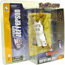 McFarlane Toys NBA Sports Picks Series 6 Action Figure Richard Jefferson (New Jersey Nets) White Jersey