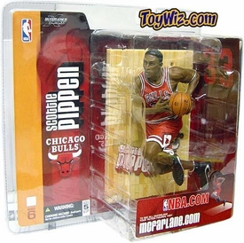 McFarlane Toys NBA Sports Picks Series 6 Action Figure Scottie Pippen (Chicago Bulls) Red Jersey