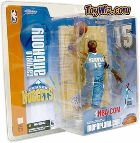 McFarlane Toys NBA Sports Picks Series 6 Action Figure Carmelo Anthony (Denver Nuggets) Teal Jersey BLOWOUT SALE!
