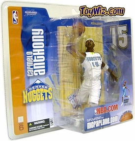 McFarlane Toys NBA Sports Picks Series 6 Action Figure Carmelo Anthony (Denver Nuggets) White Jersey Variant