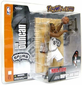 McFarlane Toys NBA Sports Picks Series 6 Action Figure Tim Duncan (San Antonio Spurs) White Jersey
