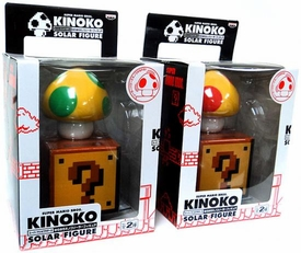 Super Mario Brothers BanPresto Set of Super Mushroom and 1-Up Mushroom [Without Faces]