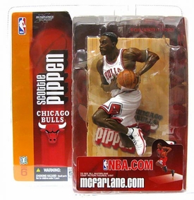 McFarlane Toys NBA Sports Picks Series 6 Action Figure Scottie Pippen (Chicago Bulls) White Jersey Variant BLOWOUT SALE!
