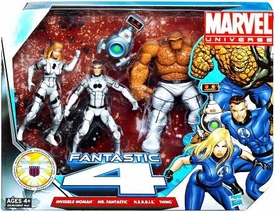 Marvel Universe 3.75 Inch Action Figure 3-Pack Fantastic Four {Future Foundation White Uniforms} [Invisible Woman, Mr. Fantastic & Thing with H.E.R.B.I.E]