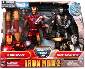 Iron Man 2 Exclusive 8 Inch Deluxe Electronic Lights & Sounds Action Figure 2-Pack Heroic Team Up [Iron Man & War Machine]