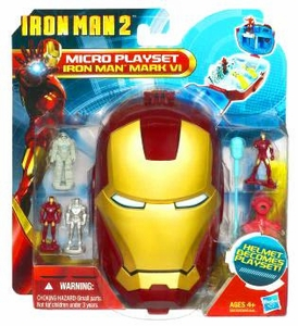 Iron Man 2 Movie Series Micro Head Playset Iron Man Mark VI