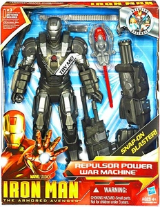 Iron Man 2 Movie 9 1/2 Inch Action Figure Repulsor Power War Machine