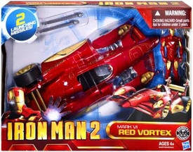 Iron Man 2 Movie Battle Action Vehicle & Figure Mark VI Red Vortex