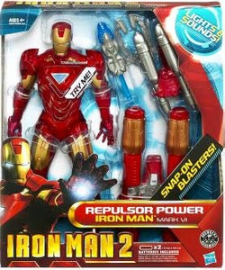 Iron Man 2 Movie 8 Inch Lights & Sounds Action Figure Repulsor Power Iron Man Mark VI