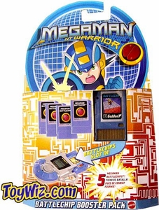 Mega Man NT Warrior PET Battle Chip Exclusive Blue Booster Pack of 5 Chips