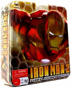 Iron Man 2 Movie Set of 5 Tin Games & Lenticular Puzzle