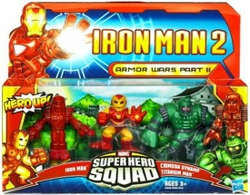 Iron Man 2 Super Hero Squad Mini Figure 3-Pack Armor Wars Part II [Iron Man Prototype, Crimson Dynamo & Titanium Man]