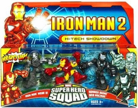 Iron Man 2 Super Hero Squad Mini Figure 3-Pack Hi-Tech Showdown [Mark VI, War Machine & Drone]