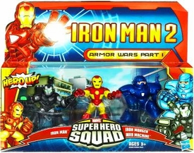 Iron Man 2 Super Hero Squad Mini Figure 3-Pack Armor Wars Part I [Iron Man, Iron Monger & War Machine]