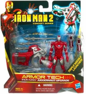 Iron Man 2 Movie Armor Tech Deluxe Action Figure Juggernaut Mission