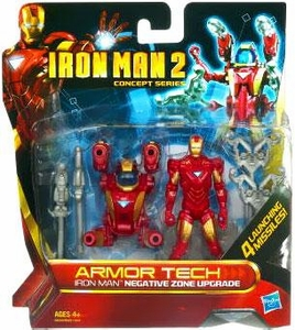 Iron Man 2 Movie Armor Tech Deluxe Action Figure Negative Zone Mission
