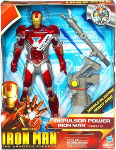 Iron Man 2 Movie 9 1/2 Inch Action Figure Repulsor Power Iron Man Mark VI