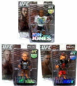 Round 5 UFC Ultimate Collector Series 6 LIMITED EDITION Set of 3 Action Figures [Dan Hardy, Jon Jones & Gray Maynard] Only 1,500 Sets Exist!