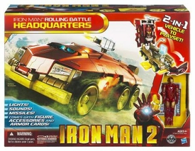 Iron Man 2 Movie Vehicle Playset Rolling Battle Headquarters