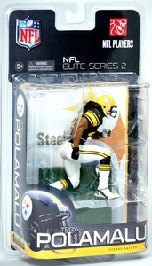 McFarlane Toys NFL Sports Picks NFL Elite 2011 Series 2 Action Figure Troy Polamalu (Pittsburgh Steelers)