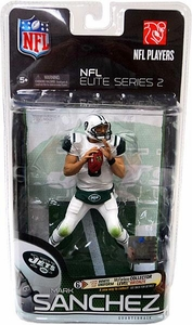 McFarlane Toys NFL Sports Picks NFL Elite 2011 Series 2 Action Figure Mark Sanchez (New York Jets) All White Bad Weather Uniform Collector Level Chase Only 3,000 Made!