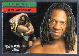 Topps CHROME WWE Heritage Trading Card Superstar # 33 Booker T JUST REDUCED!