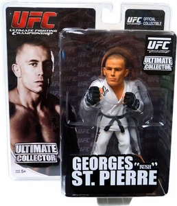 Round 5 UFC Ultimate Collector Series 7 Action Figure Georges St. Pierre [Sculpted White Gi] BLOWOUT SALE!