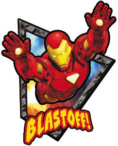 Iron Man Sticker Blastoff
