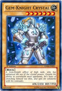 YuGiOh ZEXAL Hidden Arsenal 6: Omega XYZ Single Card Super Rare HA06-EN001 Gem-Knight Crystal
