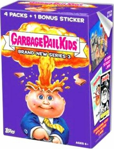 Garbage Pail Kids 2013 Brand New Series 3 Value Box [4 Packs & 1 Bonus Sticker]