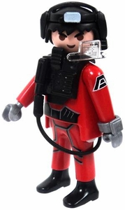 Playmobil LOOSE Mini Figure Male Dark Rangers' Speed Glider Pilot [Light Flesh]