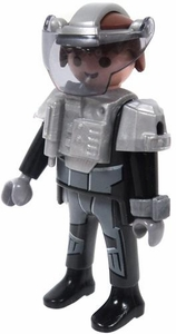 Playmobil LOOSE Mini Figure Male Dark Rangers' IR Knockout Cannon Operator [Light Flesh]