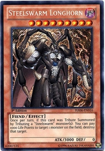 YuGiOh ZEXAL Hidden Arsenal 6: Omega XYZ Single Card Secret Rare HA06-EN016 Steelswarm Longhorn