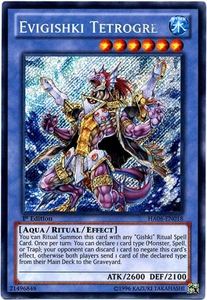 YuGiOh ZEXAL Hidden Arsenal 6: Omega XYZ Single Card Secret Rare HA06-EN018 Evigishki Tetrogre